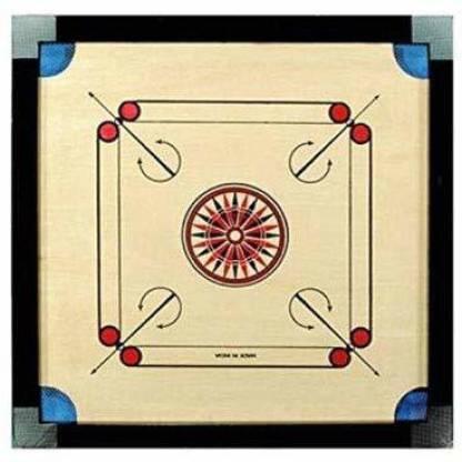 Domini Finish 20 Inch Small Size Carrom Board with Coins Striker Powder (Small Size) 50 cm Carrom Board