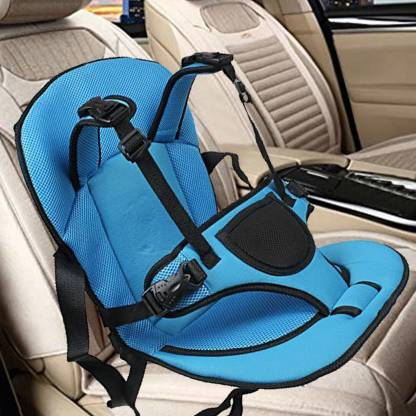 ZWAAN Car Cushion Seat with Safety Belt for Small Kids & Babies Baby Carrier Baby Car Seat Baby Car Seat | Baby Car Cushion (Blue) Baby Car Seat
