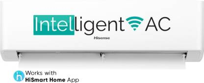 Hisense 1.5 Ton 3 Star Split Inverter AC with Wi-fi Connect - White  (AS-18TW4RGSKA00, Copper Condenser)