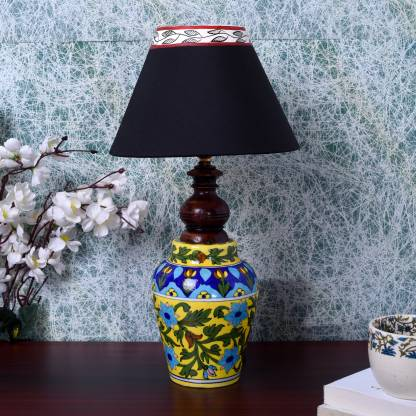 Unravel India Blue Pottery Mugal Art, Ceramic Table Lamps India
