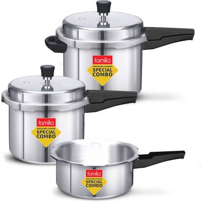 Familia Special Combo Pack 2 L, 3 L, 5 L Induction Bottom Pressure Cooker