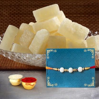 Premium Rakhi with Petha Gift Pack flipkart