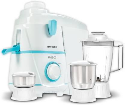 HAVELLS rigo 500 Juicer Mixer Grinder (3 Jars, White)