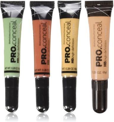 FUFA AD HD PRO LA CONCEALER PACK OF 4( Orange, green, yellow, creamy beige) 8g each Concealer