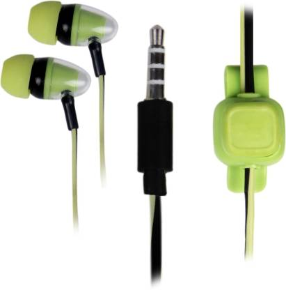 Family Occasion Inspired Design Green Earphone Wired Headset
