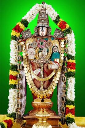 Lord Venkateswara Swamy Painting Poster Waterproof Vinyl Sticker For Home Decor 12x18 Inches Can1514 1 Fine Art Print Religious Posters In India Buy Art Film Design Movie Music Nature And