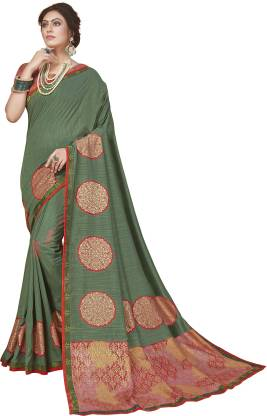 Printed Fashion Pure Silk Saree  (Multicolor)