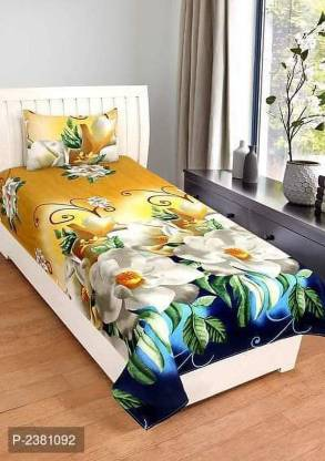 VH HUB 120 TC Cotton Single Printed Bedsheet
