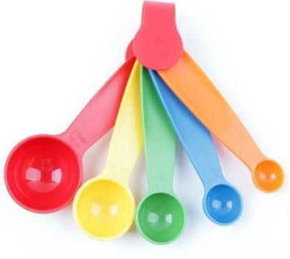 5Pcs Colorful Plastic Measuring Spoons Set Kitchen Utensil Cooking Baking  Nice