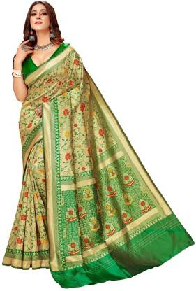 Woven Fashion Jacquard Saree  (Multicolor)