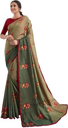 Printed Fashion Pure Silk Saree  (Red, Brown, Maroon)