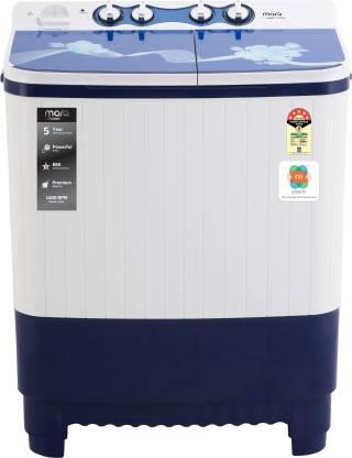 MarQ By Flipkart 9 kg 5 Star, Glass Lid Semi Automatic Top Load White, Blue
