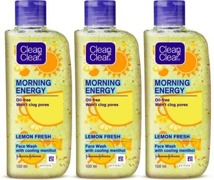 Clean & Clear Morning Energy Lemon Fresh Facewash Face Wash