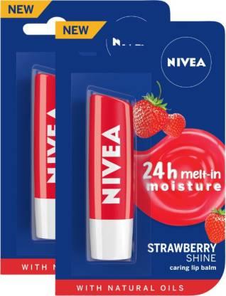 NIVEA Strawberry Fruity Shine Lip Balm Strawberry