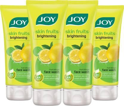 Joy Skin Fruits Brightening Lemon (Pack of 4 x 50ml) Face Wash