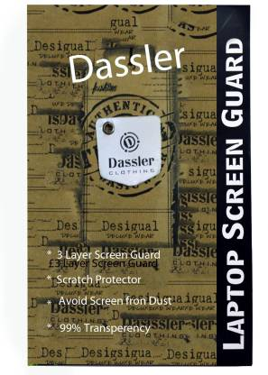 Dassler Screen Guard for Dell G3 3500 Gaming15.6-inch FHD Laptop (10th Gen Core i7-10750H/