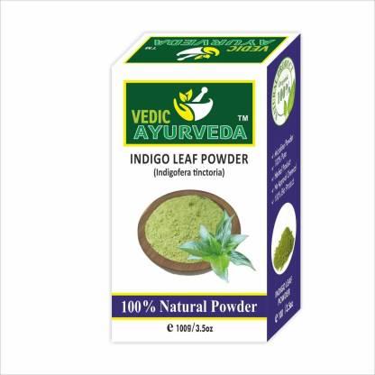 VEDICAYURVEDA Organic Natural Indigo Leaf Powder for Hair Color