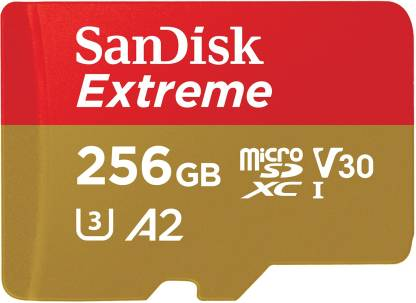 SanDisk Extreme 256 GB MicroSDXC UHS Class 3 160 Mbps  Memory Card