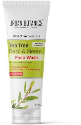 UrbanBotanics Tea Tree, Neem & Basil  - Paraben Free - SLS Free - SLES Free, 200ml… Face Wash