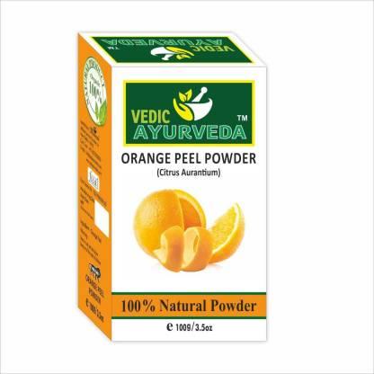 VEDICAYURVEDA Organic 100% Organic & Natural Orange Peel Powder for Skin