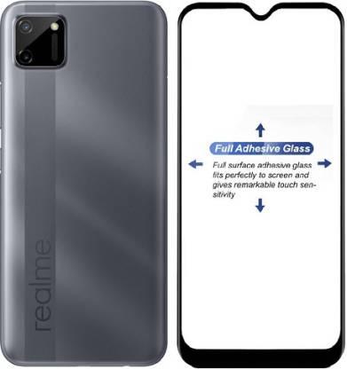 Mobizworld Edge To Edge Tempered Glass for Realme C11