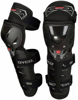 SCOYCO K11 Adjustable Knee and Shin Guards Protection Guard with Pads Flexible Breathable High-Impact Knee Pads for Motorcycle/Bike Knee Guard Free Black