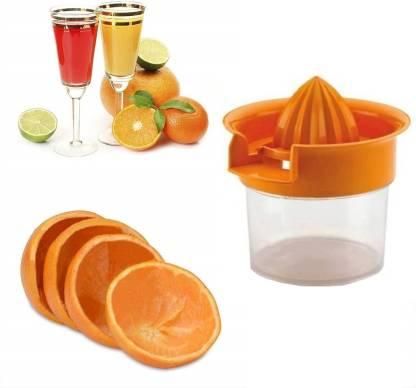 MYYNTI Plastic Hand Juicer Hand press lemon squeezer citrus manual lime orange fruit strainer and container travel juicer maker