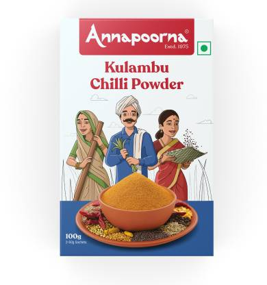 Annapoorna Kulambu Chilli Powder 100g Carton