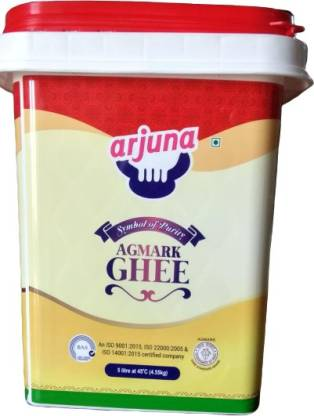 Arjuna 5 lt Pure and Fresh cow desi ghee from india|Pure desi from cow milk|cow desi ghee|5 lt cow ghee in Backet 5 L Drum