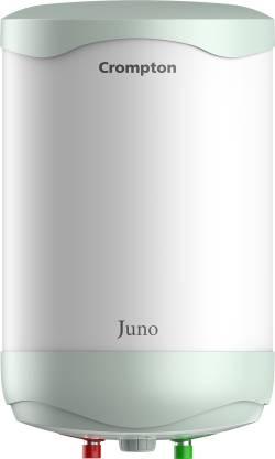 CROMPTON 10 L Storage Water Geyser (Juno 10 Litres, White, Green)