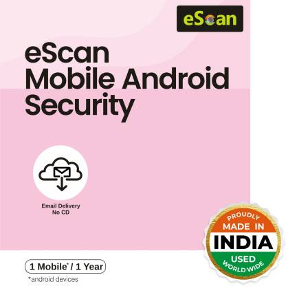 ESCAN 1� Device Mobile 1 Year Mobile Security for Android (Email Delivery - No CD)
