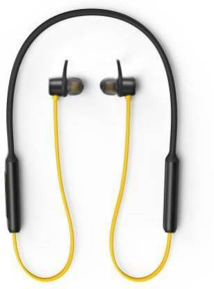 radula Bluetooth buds smart Bluetooth neckband Bluetooth Headset  (Yellow, Black, In the Ear)