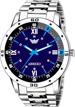ABREXO Abx3026-BL Blue Dial Silver Bracelet Unique New Watch For Boys Analog Watch - For Boys