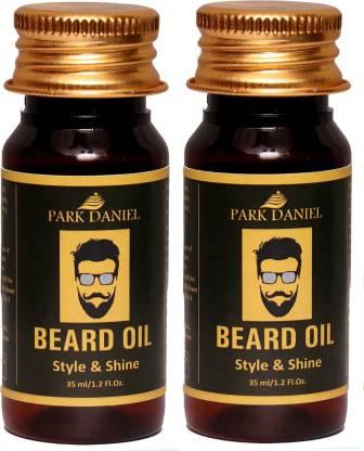 PARK DANIEL Beard Oil Combo pack(2 No.35 ml) Bottles Hair Oil