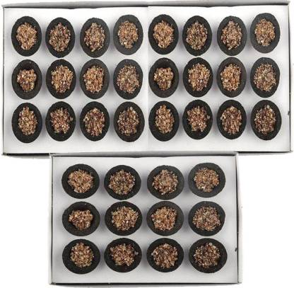 Qweezer 36 pcs Natural Pure Guggal Ashtgandham Sambrani/Guggal Cup Dhoop with Stand Guggul