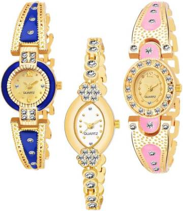 Varni Enterprise BANGLE_1094 NEW ARRIVAL PACK OF 3 WATCH FOR GIRLS Analog Watch - For Women Analog Watch - For Women