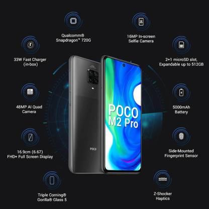 POCO M2 Pro (Two Shades of Black, 64 GB)