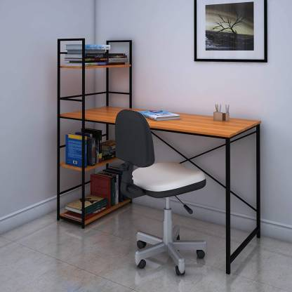 @Home by nilkamal Dalton Engineered Wood Study Table(Free Standing, Finish Color – Teak, Knock Down)