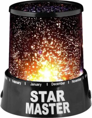Prisha Enterprise Amazing Colorful LED Star Master Sky Starry Night Light Projector Lamp Gift (Black) Smart Bulb