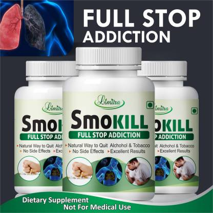 Limitra Smokill, For Reduse Addiction 100% Natural