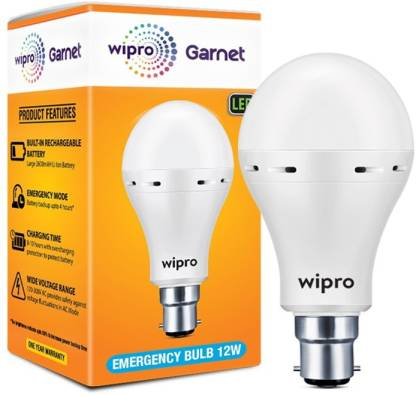 WIPRO Garnet 12W�Emergency�Bulb_5 Bulb Emergency Light