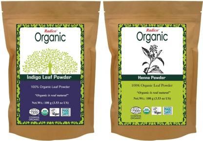 Radico Organic Henna & Indigo powder combo