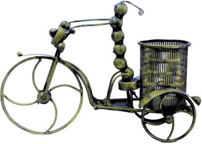 AnviCraft IRON CYCLE CATTERPILLER PEN HOLDER Decorative Showpiece  -  28 cm