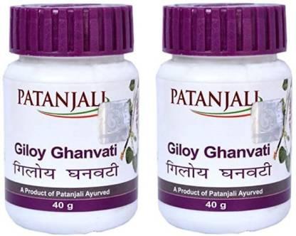 PATANJALI GILOY GHAN VATI 40gm ( Pack of 2 ) GGV2