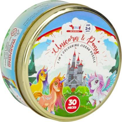 Cocomoco Kids Unicorn and Pony Jigsaw Puzzle 30 pieces, Return Gift
