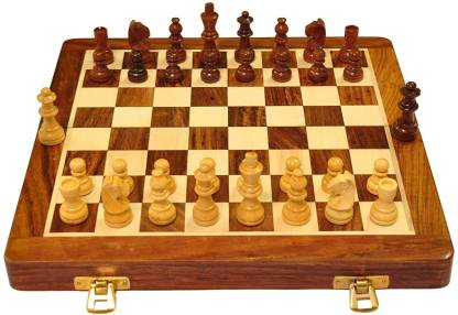 Smartcraft Chess Board Set with Foam, Best Folding Wooden Handmade Chess Set Board with Premium Quality - 10x10 inches Strategy & War Games Board Game