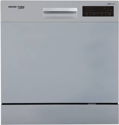 Voltas Beko DT8S Free Standing 8 Place Settings Dishwasher