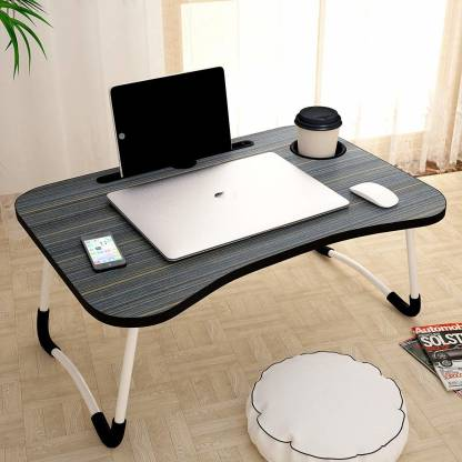 3D METRO SUPER STORE Work Tray Table Stand for Writing Wood Portable Laptop Table