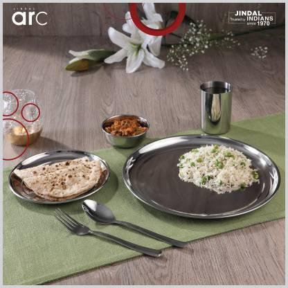Jindal ARC Pack of 24 Stainless Steel Dinner Set