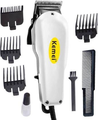 Kemei New Heavy Performance Corded Trimmer Shaver Hair Clipperwith Large Battery Electric Hair Cutting Machine Haircut Cutter for Men Barber Salon  Runtime: 120 min Trimmer for Men & Women